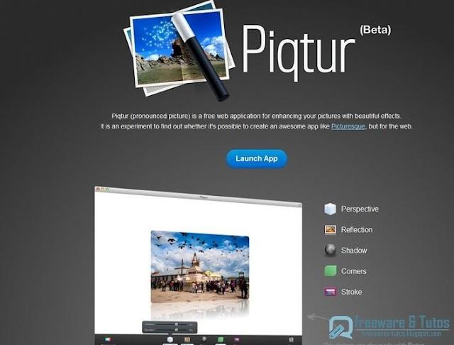 Piqtur : un nouvel outil web pour éditer ses photos en ligne