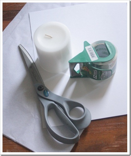 How to make your own print candles - this will be perfect for holidays!