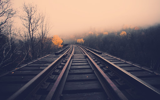 Railroad Tracks Landscape