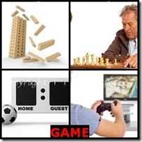 GAME- 4 Pics 1 Word Answers 3 Letters