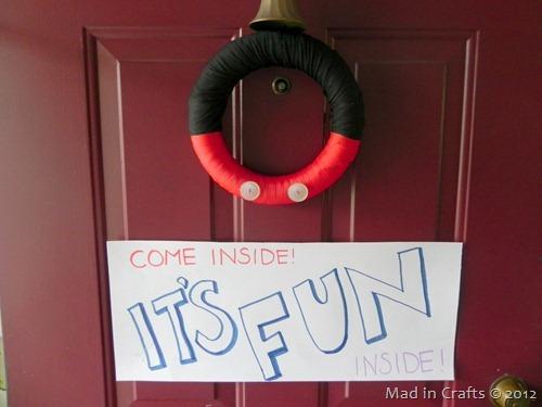 mickey party front door