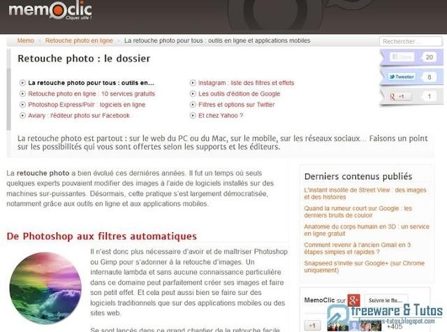 Le site du jour : tour d'horizon des outils de retouche photo en ligne
