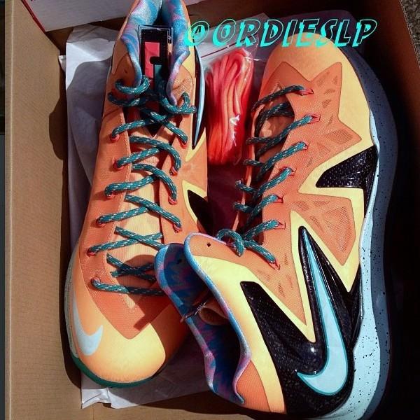 2d8f739ec18 ... Nike LeBron X PS Elite EYBL aka Shooting Stars PE ...