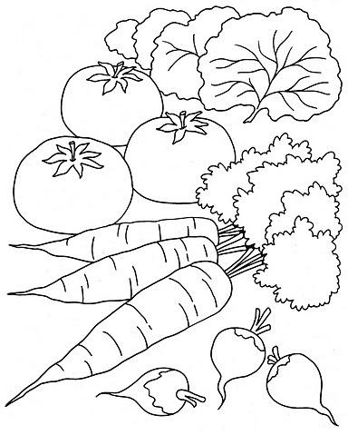 Dibujos De Verduras Para Pintar