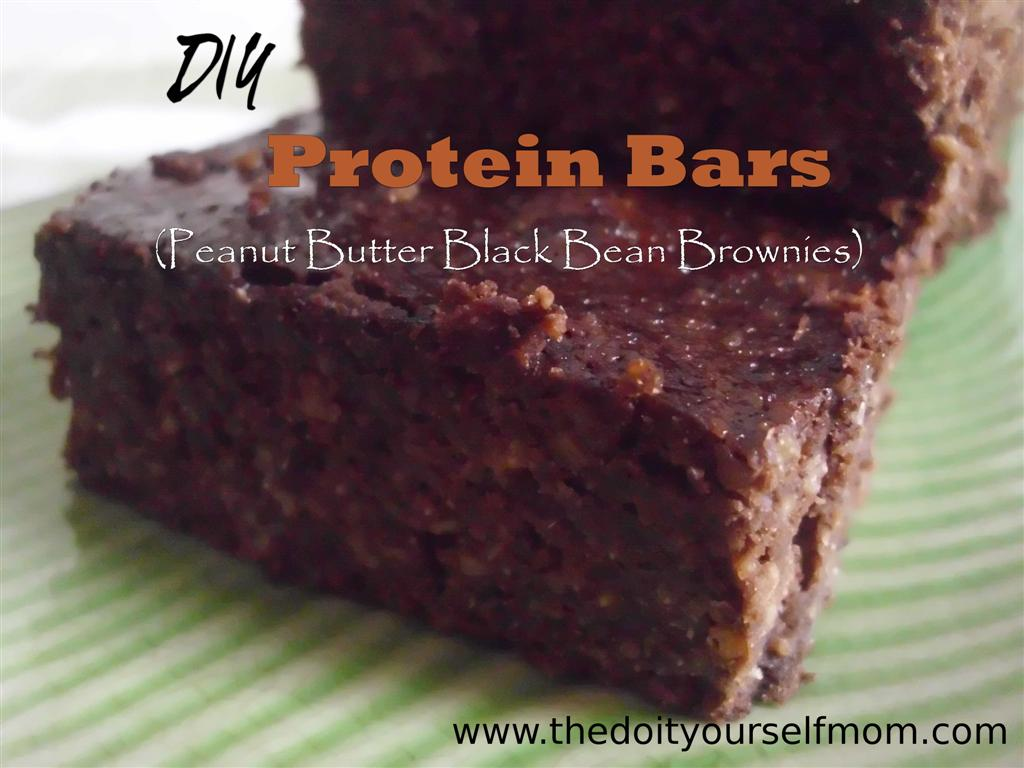 The do it yourself mom diy protein bars peanut butter black bean diy protein bars peanut butter black bean brownies solutioingenieria Images