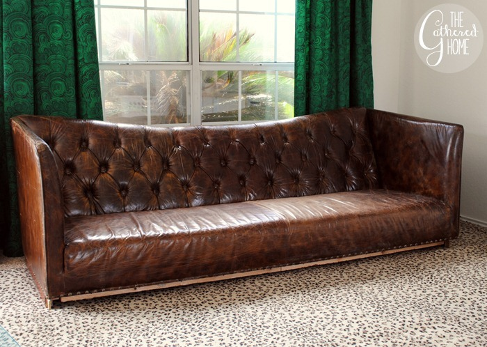 tufted leather high back sofa2