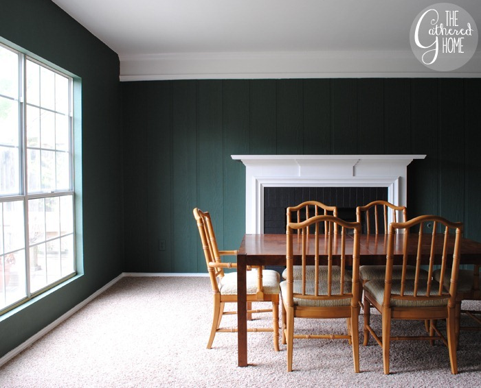 "dining room updates: new ""chard"" paint color"