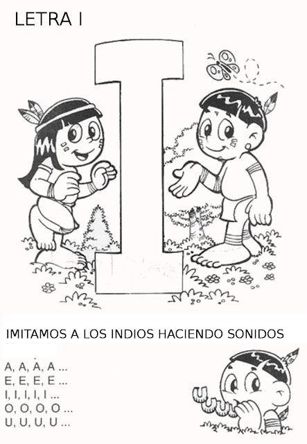 Dibujos Infantiles De Indios Para Colorear