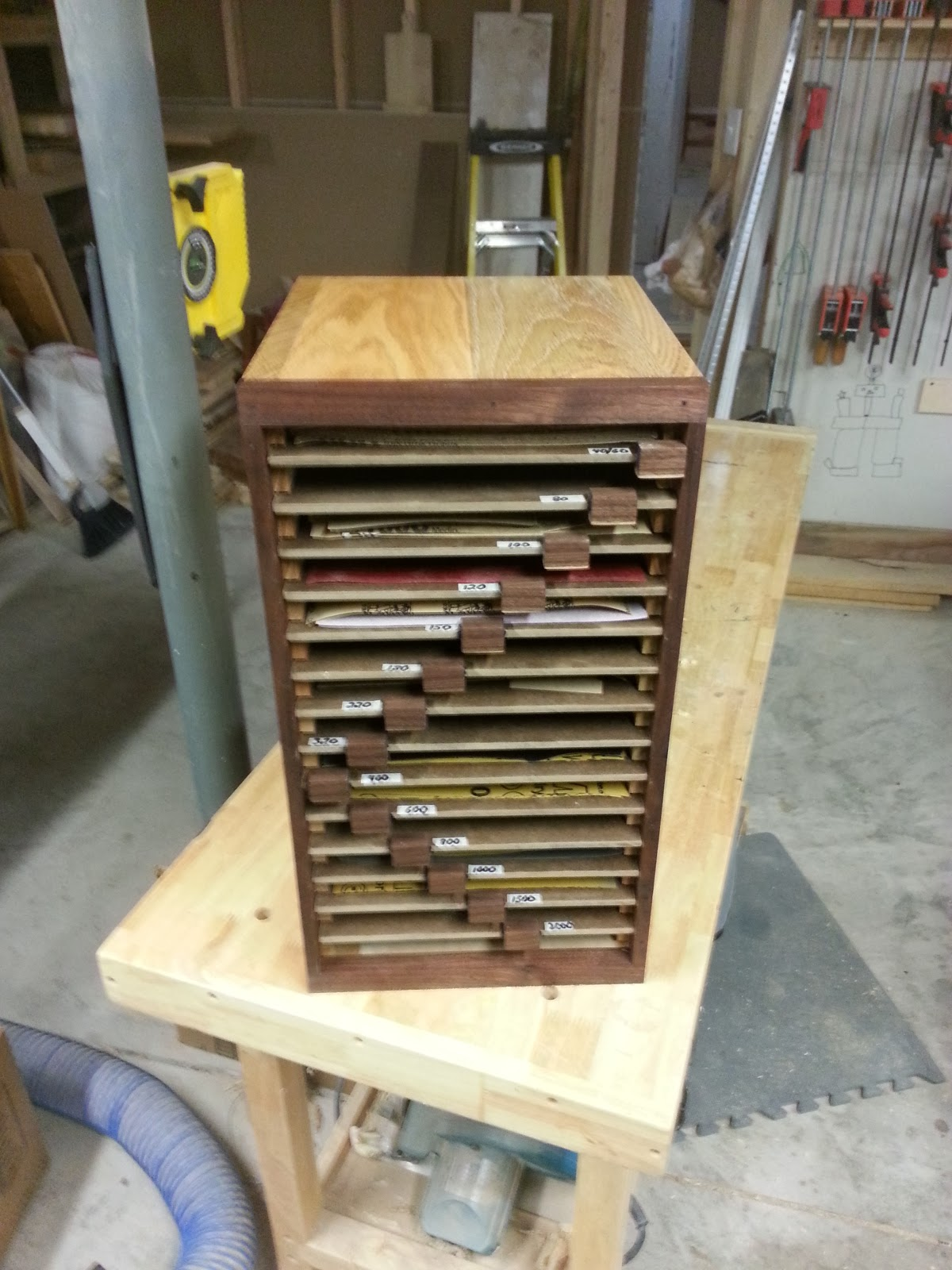 Chad S Workshop Sandpaper Organizer