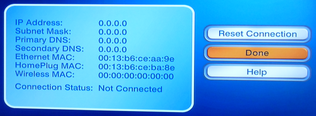 DISH DHCP IP Settings