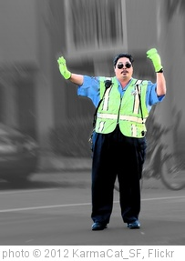 'THE SIMON SAYS TRAFFIC COP' photo (c) 2012, KarmaCat_SF - license: http://creativecommons.org/licenses/by/2.0/