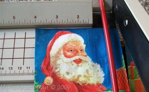 santa Christmas napkin