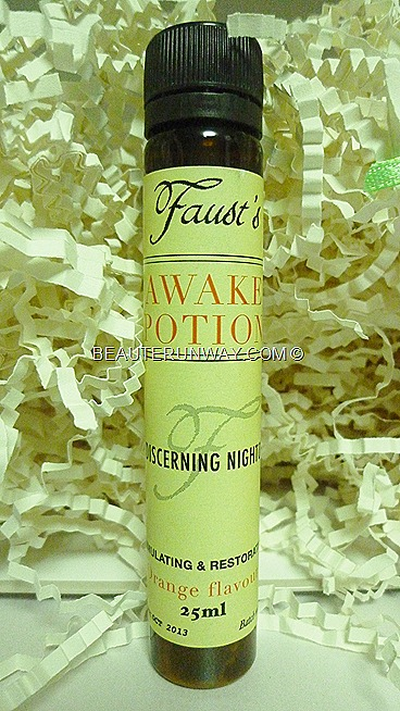 Bella Box sg fausts awake potion orange ginseng greentea  beauty sampler subscription service