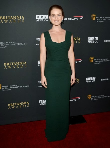 Alice Eve attends the 2013 BAFTA LA Jaguar Britannia Awards