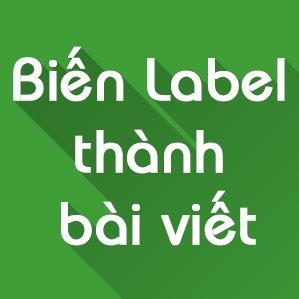 Tối ưu SEO Blogspot - Tối ưu label thành một bài viết