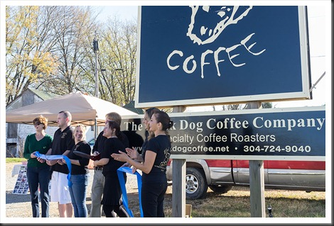 Black Dog Coffee Shop ribbon cutting