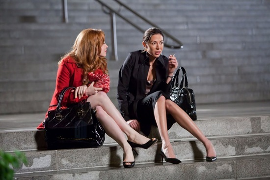 "Lauren Ambrose is Jilly Kitzinger and Arlene Tur is Doctor Vera Juarez in Torchwood: Miracle Day - ""Dead of Night"""