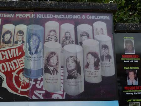 Obiective turistice Belfast: victime ale gloantelor de cauciuc in Irlanda de Nord
