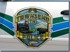 0204 Tennessee, Townsend - US-321 North - decal on Townsend Police car