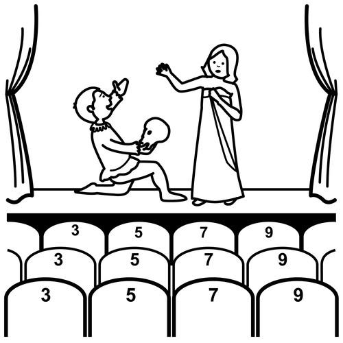 Teatro Dibujos Para Colorear
