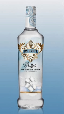 Alcholic marshmallow drink vodka
