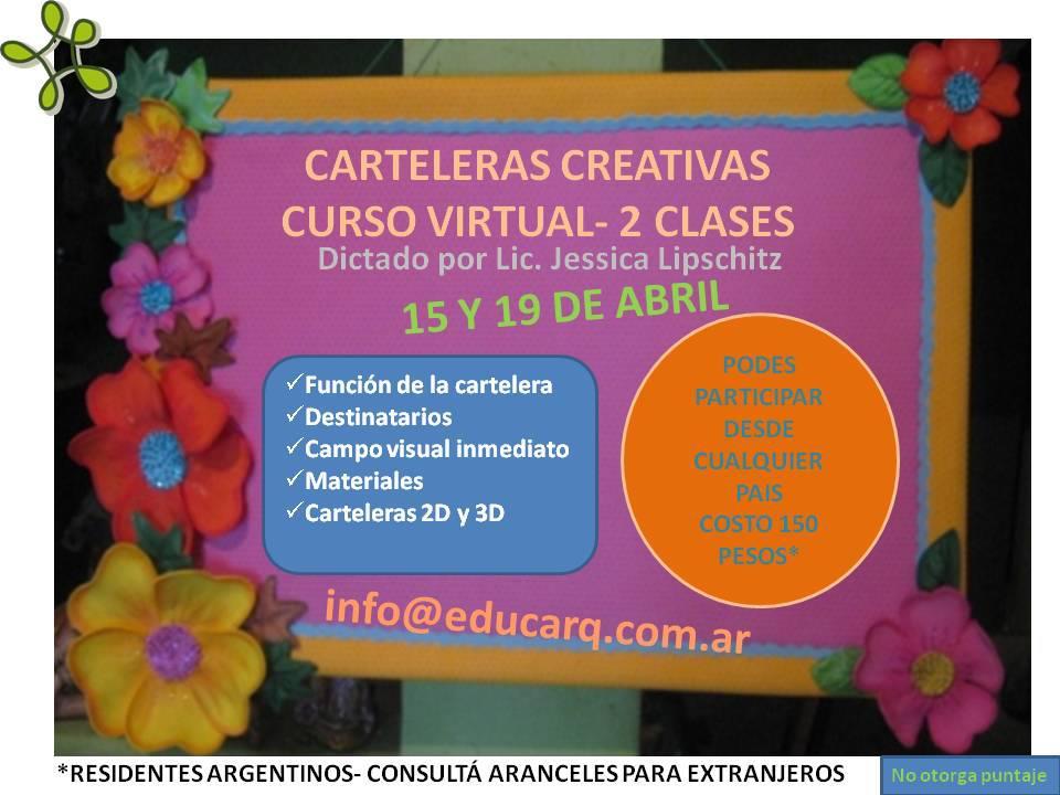 """Oportunidades Docentes: Curso Virtual: """"Carteleras Creativas"""""""