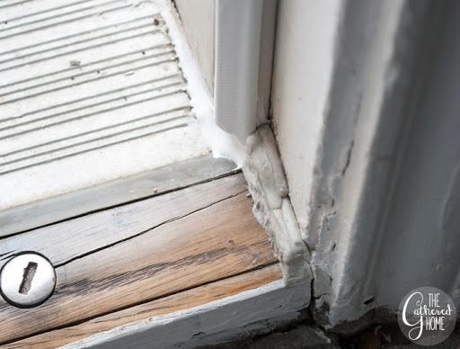 Rope Caulk Front Door & Mind The Gap: Weatherproofing Doors \u0026 Windows - The Gathered Home