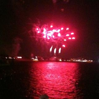 Fireworks over the Mississippi