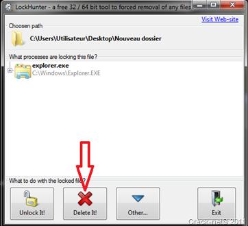 lockhunter Impossible de supprimer un fichier... Accès refusé