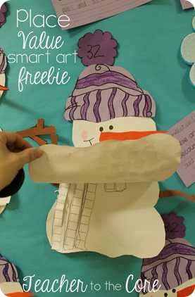 Place Value is fun to think about with this  Snowman Smart Art Freebie (9)