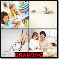 DRAWING- 4 Pics 1 Word Answers 3 Letters