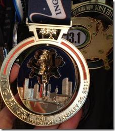 ING Miami Marathon Medal