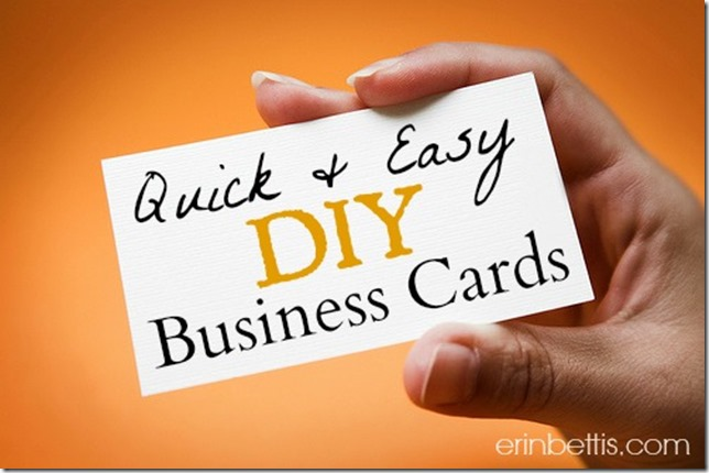 Quick And Easy Diy Business Cards Using Gimp Picmonkey Vistprint By Erinbettis