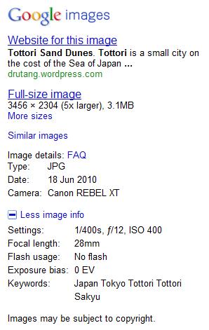 google-image-exif