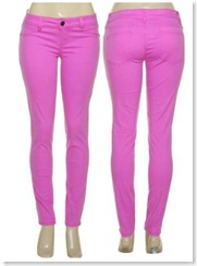 Lily Neon Purple Skinny Stretch Jeans