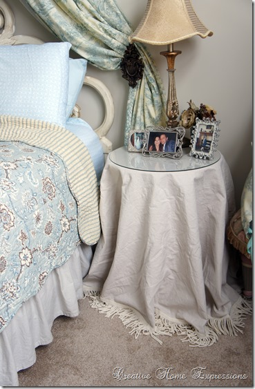 Creative Home Expressions Table Skirts For The Master Bedroom
