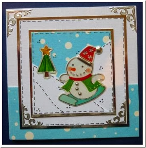 It's All Fiddle Fart: Snowman Sticker Christmas Cards