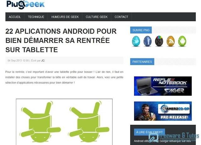 Le site du jour : 22 applications Android pour bien démarrer sa rentrée sur tablette