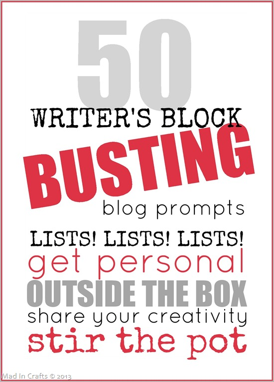 50 Writer's Block Busting Blog Prompts