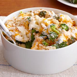 Easy Cauliflower & Broccoli au Gratin.