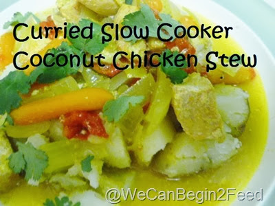 Curred Slow Cooker Coconut Chicken Stew