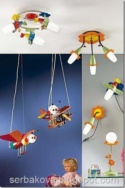 детские светильники и люстры 4