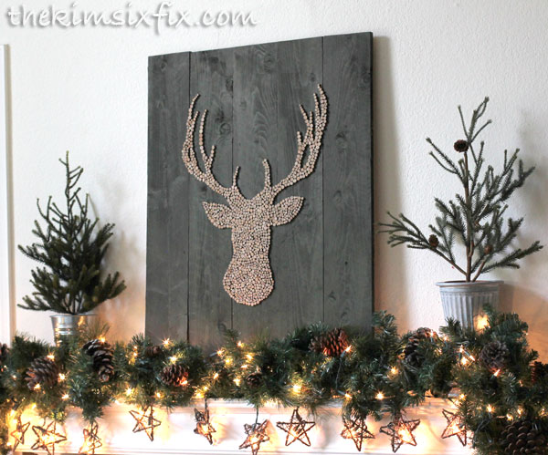 Deer head pallet wood art