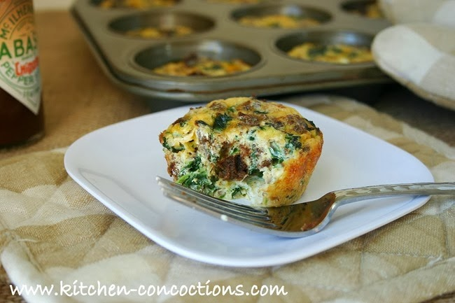 leftover stuffing frittata muffins 5