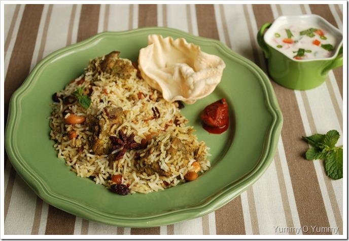 Green Chicken Biriyani