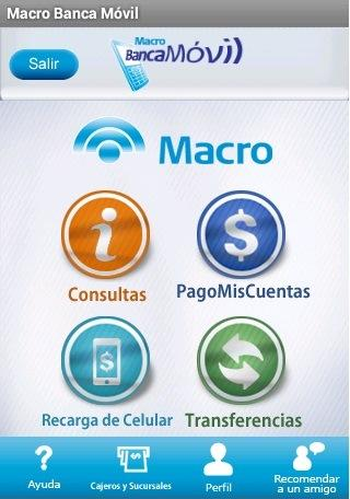 Macro Banca Móvil- screenshot