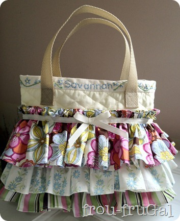 Quilted, Ruffled Scripture Bag