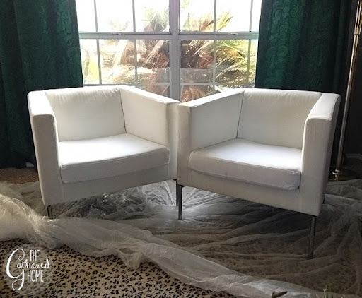 DIY Ikea Hack Cream And Black Club Chairs