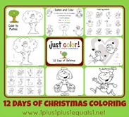 Just Color 12 Days of Christmas