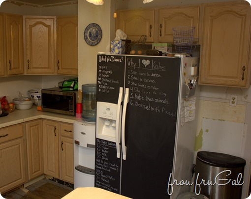 Kitchen - Fridge Wall Before